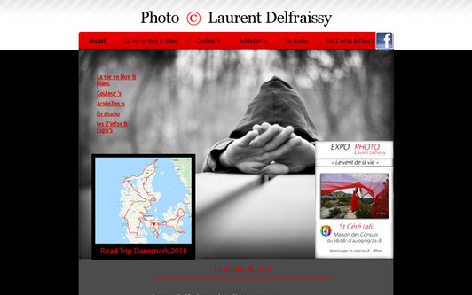 Example website Laurent Delfraissy Photographie