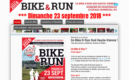 Site exemple Bike & Run St Yrieix