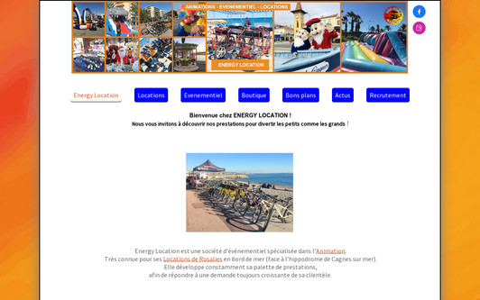 Site exemple ENERGY LOCATION
