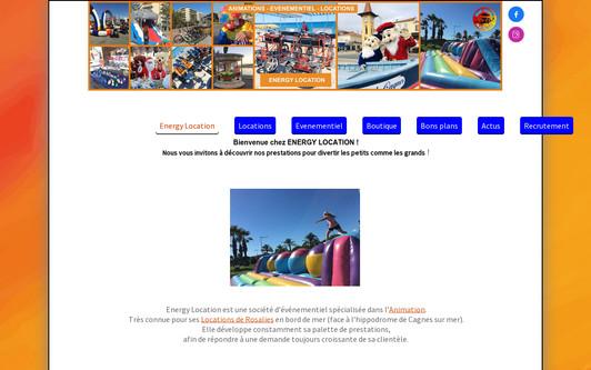 Example website ENERGY LOCATION