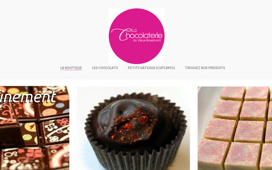 Example website La Chocolaterie du Vieux-Rosemont