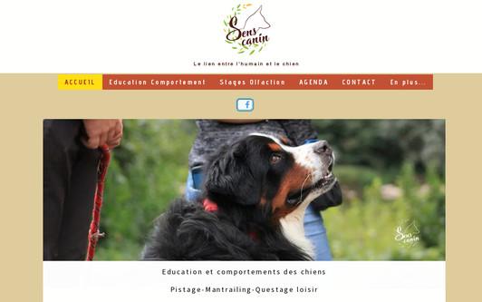 Example website Sens Canin éducation canine-médiation animale Tarn