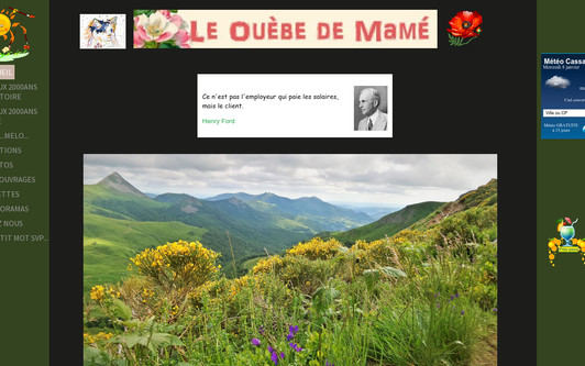 Example website Le Ouèbe de Mamé