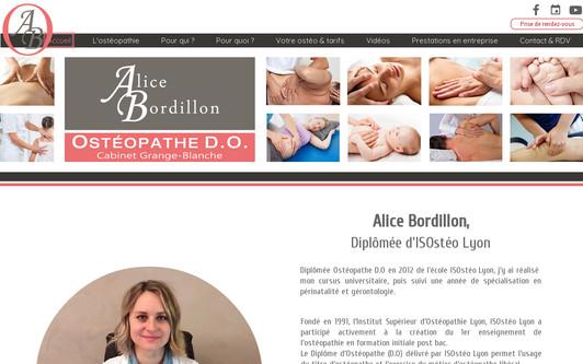 Example website www.bordillon-osteo.com