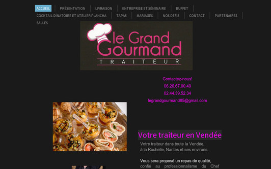 Site exemple Traiteur en Vendée - Le Grand Gourmand