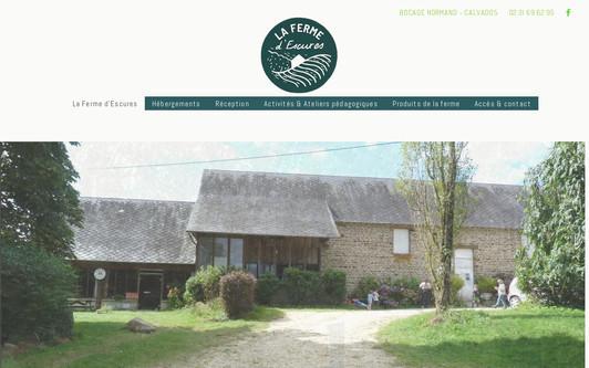 Ejemplo de sitio web Ferme d'Escures
