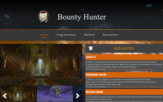 Example website Bounty Hunter [Krasus]