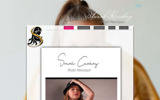 Example website Sarah Crahay