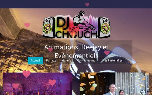 Ejemplo de sitio web Deejay Chouch