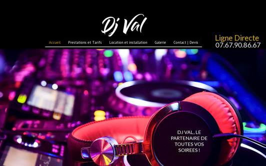 Ejemplo de sitio web DJ Val : Animation DJ - Vaucluse - Gard - Bouches-du-Rhône