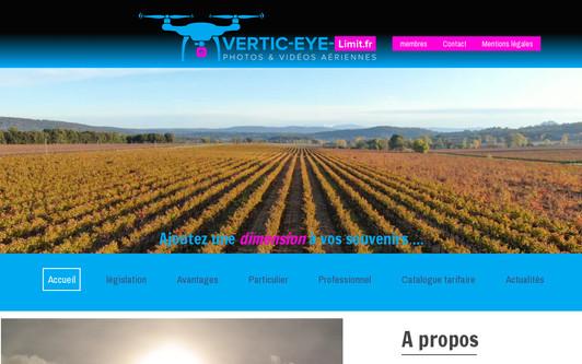 Ejemplo de sitio web Vertic-Eye-Limit.fr - photos aériennes par drone dans le Var