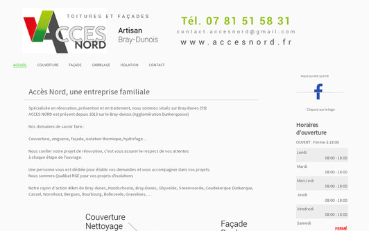 Example website Accès Nord