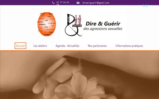 Ejemplo de sitio web Dire et Guerir
