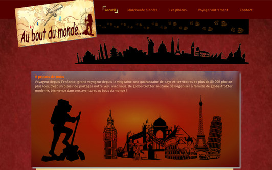 Example website Au bout du monde !