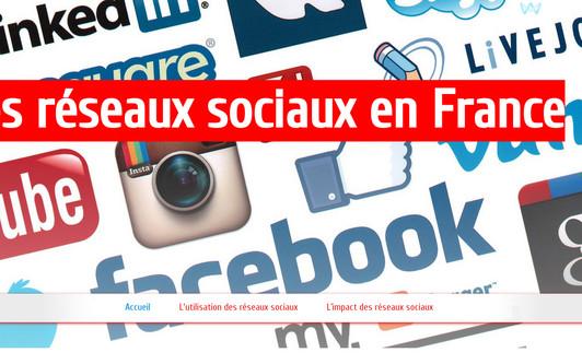 Site exemple Les réseaux sociaux