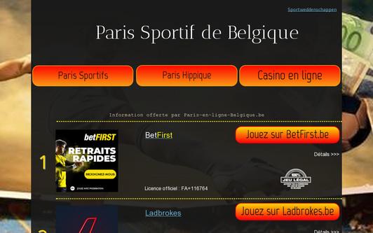 Ejemplo de sitio web Paris en Ligne Belgique